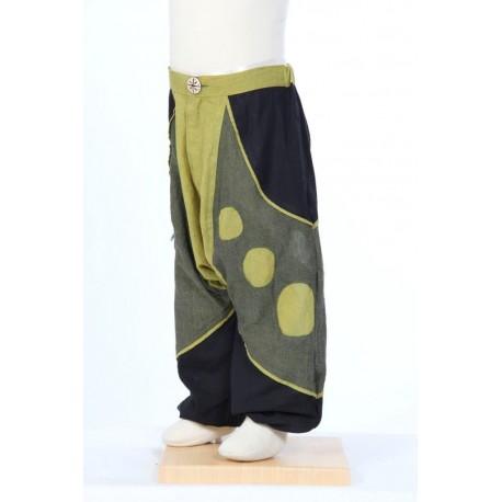 Boy hippy afghan trousers pants lemon army black