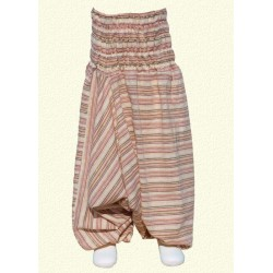 Baby afghan trousers stripe beige 18months