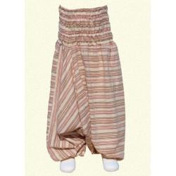 Pantalon afgano chica rayado beige 3anos
