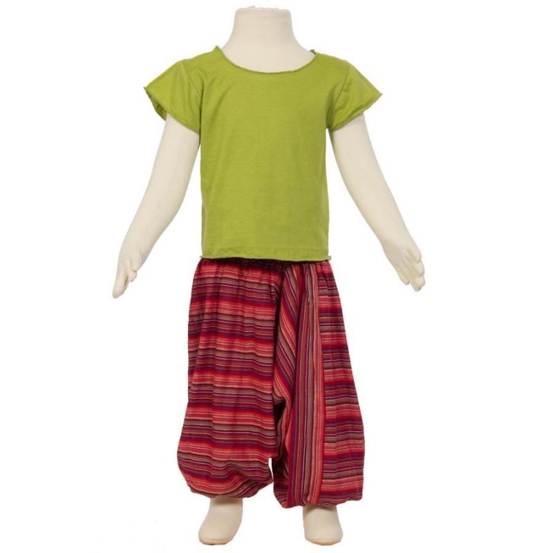 Pantalón afgano hippie rayado