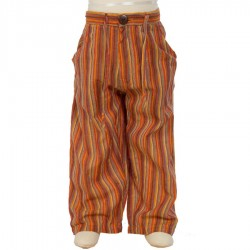 Pantalon hippie chico naranja limon