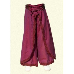Pantalones nepales princesa india violeta 9-12meses