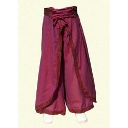 Pantalones nepales princesa india violeta 12-18meses