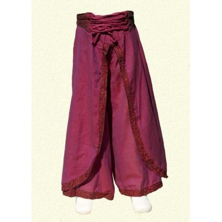 Pantalon népalais ethnique violet 14-15ans