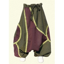 Lemon green ethnic afghan trousers   4years