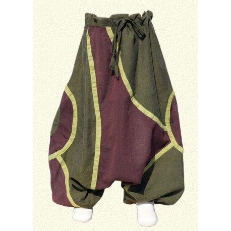 Lemon green ethnic afghan trousers   12months