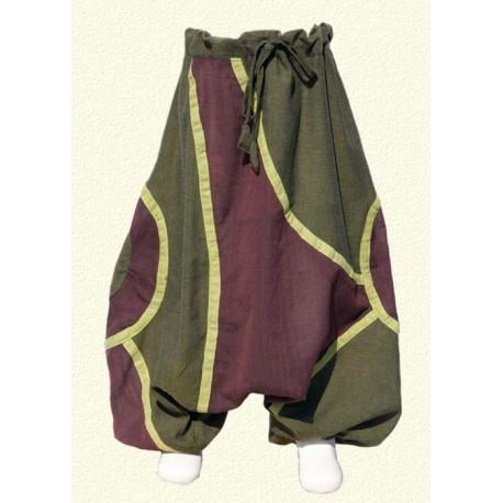 Pantalon afgano etnico verde limon   12meses