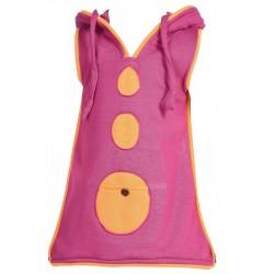 Robe capuche lutin fille violette