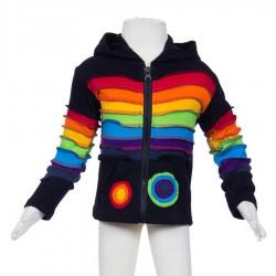 Ethnic kid jacket Rainbow black