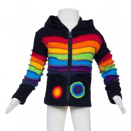 Veste ethnique Rainbow noire