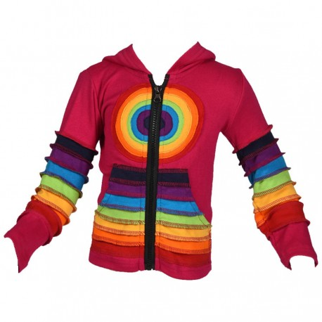 Veste ethnique fille Rainbow Rose