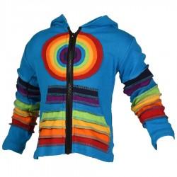 Veste Rainbow garçon fille turquoise