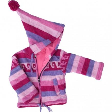 Manteau laine fille 2ans