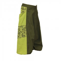 Ethnic girl afghan trousers printed army and lemon    14years