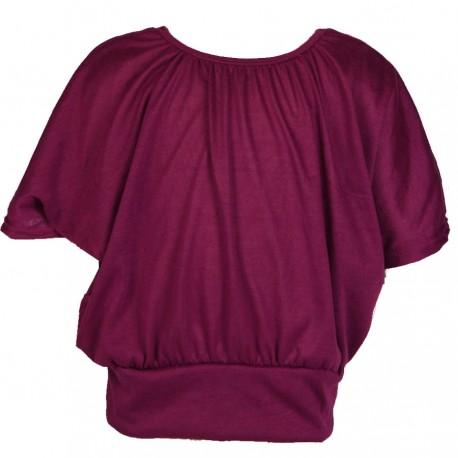Tunique manches chauve-souris violette