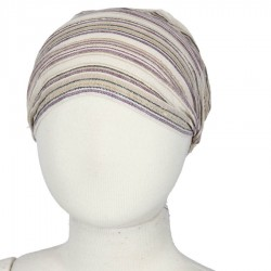 Bandeau cheveux rayé blanc