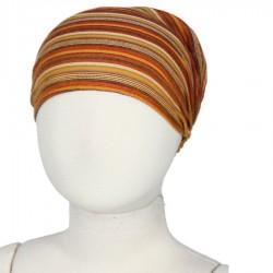 Bandeau cheveux bébé fille femme rayé orange