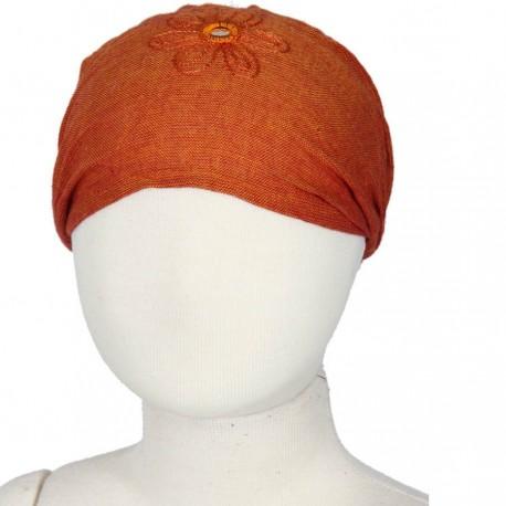 Venda pelo nina bebe chica mujer bordada unido naranja