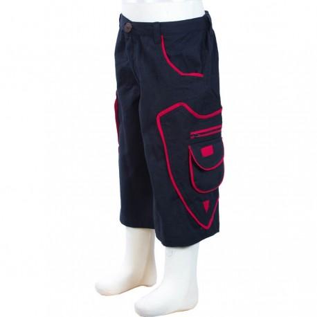 Ethnic short trousers boy black