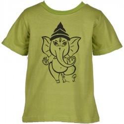 Tee-shirt ethnique enfant Ganesh turquoise