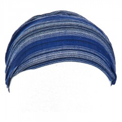 Bandeau coton babacool rayé bleu marine