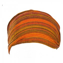 Bandeau rayé babacool orange