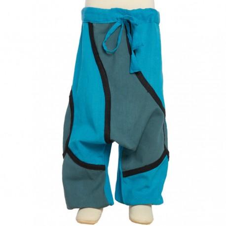 Pantalon afgano etnico turquesa   6anos