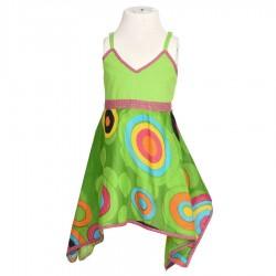 Robe imprimée indienne verte