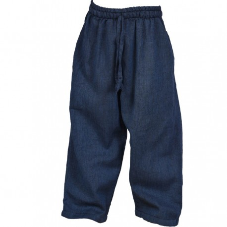 Plain blue trouser     3years