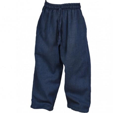 Plain blue trouser     6months