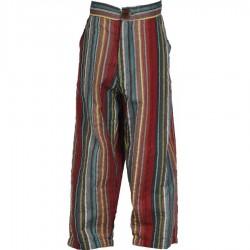 Pantalon babacool rayé bleu marine