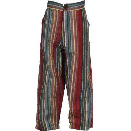 Pantalon babacool indien rouge bordeaux
