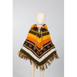 Poncho lana chico hippie 3-4anos