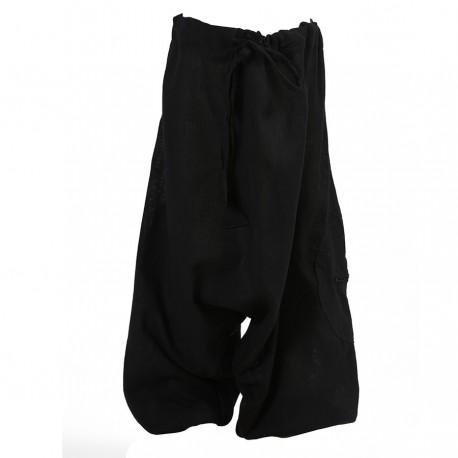 Plain black mixed afghan trousers   2years