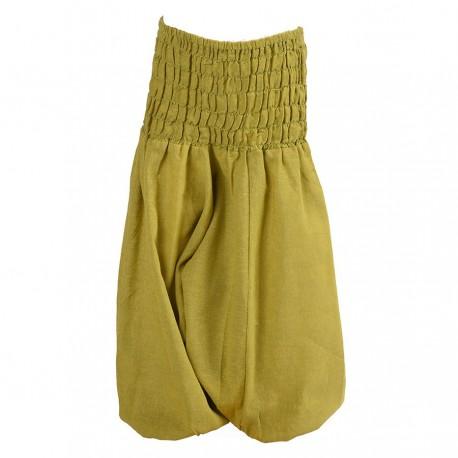 Pantalon afgano chica unido verde limon    3anos