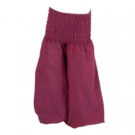 Pantalon afgano bebe unido violeta 6meses