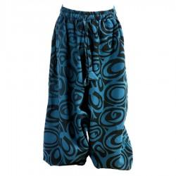 Sarouel pantalon garçon bleu pétrole