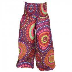Pantalon bouffant fille imprimé violet