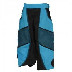 Pantalon bouffant garçon turquoise noir bleu pétrole