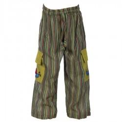 Khaki stripe trouser     12months