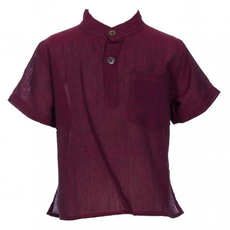 Plain dark red shirt     4years