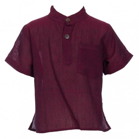Plain dark red shirt     6years