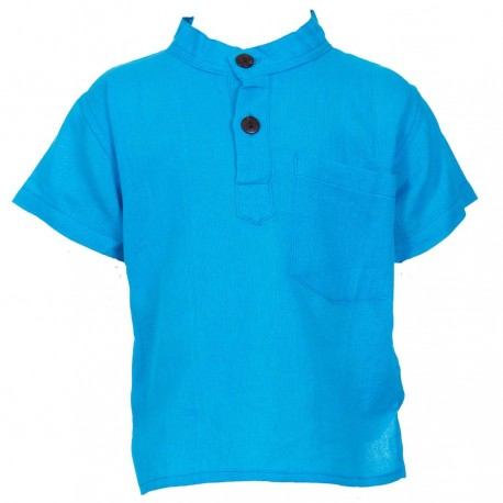 Plain turquoise shirt     2years