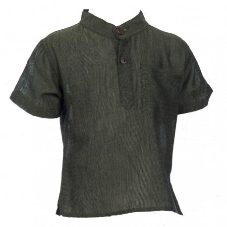 Camisa unida caqui    3meses