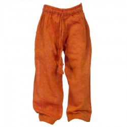 Pantalon ethnique coton Népal orange