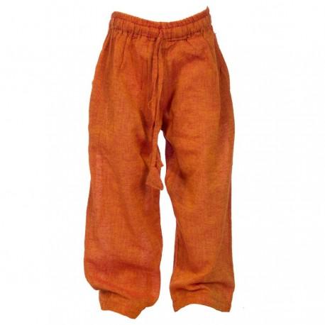Pantalon ethnique coton Népal orange