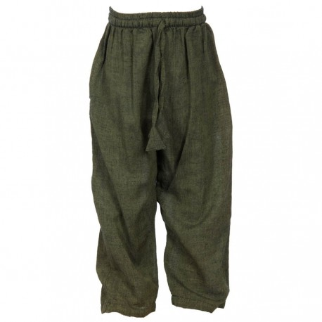 Pantalon babacool coton uni kaki