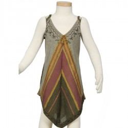 Girl ethnic dress sharp green