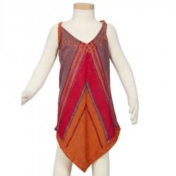 Vestido etnico chica puntiagudo rojo