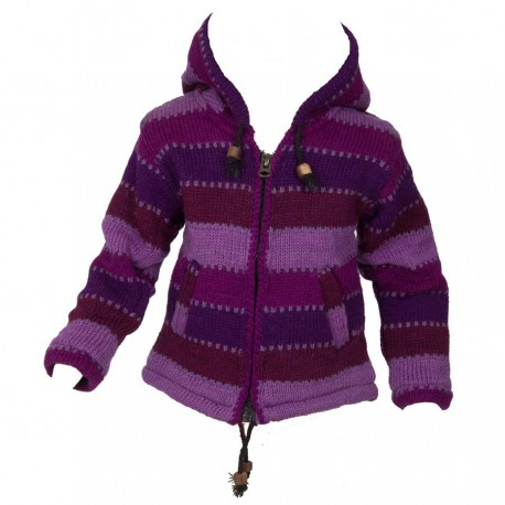 Chaqueta 4anos lana violeta